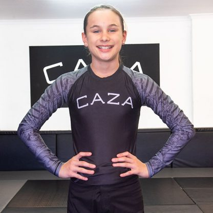 CAZA BJJ Kids Grey Rashie (Long Sleeve)