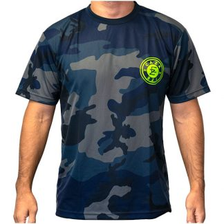 CAZA BJJ Navy Camo Quick-Dry T-Shirt