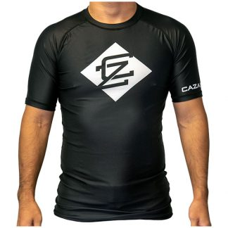 CAZA BJJ Adults Black Rashie (Short Sleeve)