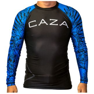 CAZA BJJ Adults Blue Rashie (Long Sleeve)
