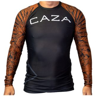 CAZA BJJ Adults Brown Rashie (Long Sleeve)