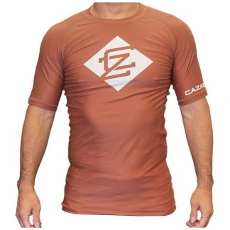 CAZA BJJ Adults Brown Rashie (Short Sleeve)