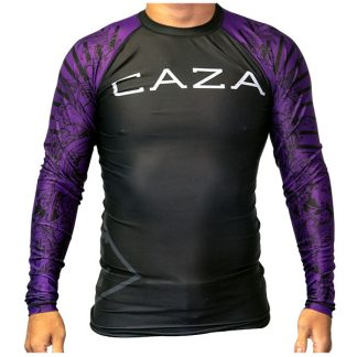CAZA BJJ Adults Purple Rashie (Long Sleeve)