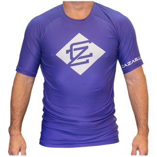 CAZA BJJ Adults Purple Rashie (Short Sleeve)