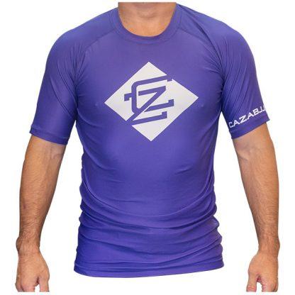 CAZA BJJ Adults Purple Rashie (Short Sleeve)