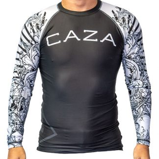 CAZA BJJ Adults White Rashie (Long Sleeve)
