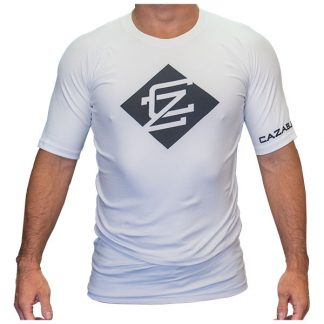 CAZA BJJ Adults White Rashie (Short Sleeve)