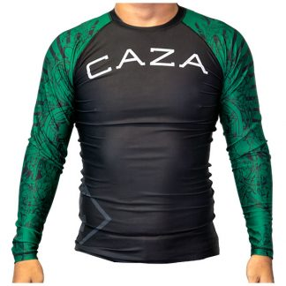 CAZA BJJ Adults Green Rashie (Long Sleeve)