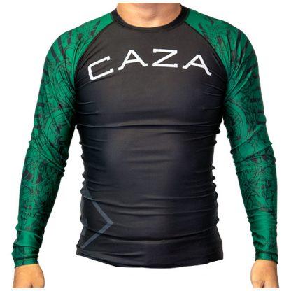 CAZA BJJ Adults Green Rashie (Long Sleeve)